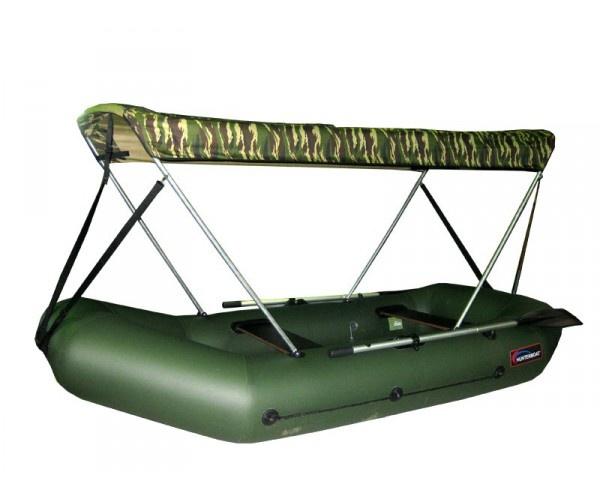 как установить тент для лодки